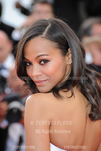 "Zoe Saldana at the gala premiere of ""The Tree of Life"" in competition at the 64th Festival de Cannes..May 16, 2011  Cannes, France.Picture: Paul Smith / Featureflash"