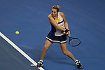 Anastasia Pavlyuchenkova of Russia hits a return during the singles Round Robin match of the WTA Elite Trophy Zhuhai 2017 against Ashleigh Barty of Australia at Hengqin Tennis Center on November  01, 2017 in Zhuhai, China.Photo by Yu Chun Christopher Wong / Power Sport Images