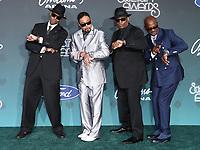 17 November 2019 - Las Vegas, NV - Jimmy Jam, Morris Day, Terry Lewis, Jerome Benton. 2019 Soul Train Awards Red Carpet Arrivals at Orleans Arena. Photo Credit: MJT/AdMedia