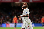 England's Raheem Sterling celebrates goal during UEFA Nations League 2019 match between Spain and England at Benito Villamarin stadium in Sevilla, Spain. October 15, 2018. (ALTERPHOTOS/A. Perez Meca)