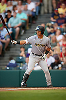Trenton Thunder catcher Chace Numata (6) at bat during a game against the Richmond Flying Squirrels on May 11, 2018 at The Diamond in Richmond, Virginia.  Richmond defeated Trenton 6-1.  (Mike Janes/Four Seam Images)