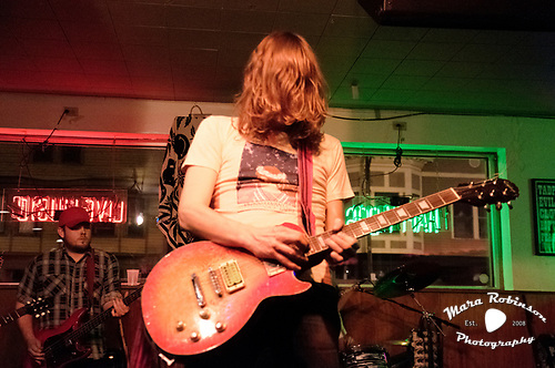 Free Energy guitarist music photography by Akron music photographer Mara Robinson