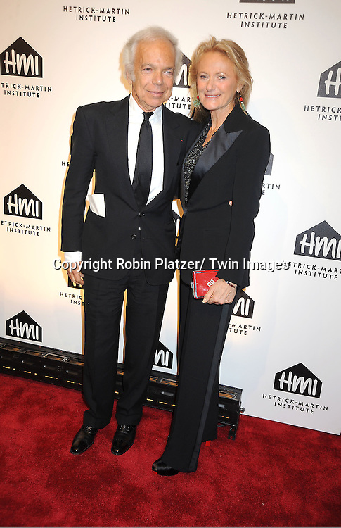 Ralph Lauren and wife Ricky  Lauren attends the 25th Annual Emery Awards on November 10, 2011 at Cipriani Wall Street in New York City.  The Awards are presented by The Hetrick-Martin Institute.