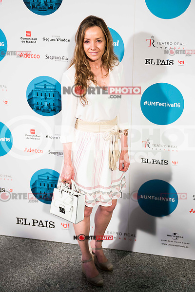 Miriam Ungria attends to the photocall of the Rod Stewart concert at Teatro Real in Madrid. July 05. 2016. (ALTERPHOTOS/Borja B.Hojas)