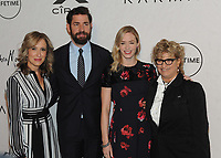 NEW YORK, NY - APRIL 13: Michelle Sobrino-Stearns, John Krasinski and Emily Blunt at Variety's Power Of Women: New York at Cipriani Wall Street in New York City on April 13, 2018. <br /> CAP/MPI/JP<br /> &copy;JP/MPI/Capital Pictures