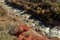 Shu-Fluss in Kirgistan, Asien<br /> Shu river in Kirgistan, Asia
