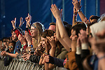 © Joel Goodman - 07973 332324 . 06/06/2015. Manchester , UK . Everything Everything fans at the Big Top stage at The Parklife 2015 music festival in Heaton Park , Manchester . Photo credit : Joel Goodman