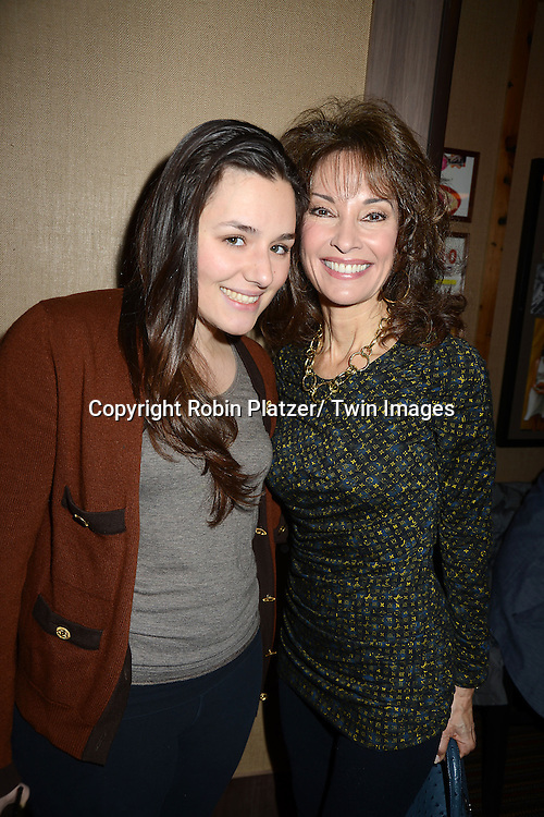 "Jenny Lenz and Susan Lucci attends the Ricky Paull Goldin premiere party and fundraiser for his new HGTV show ""Spontaneous Construction"" which will air on February 15, 2013. The party was on February 10, 2013 at Guy's American Kitchen in New York City."