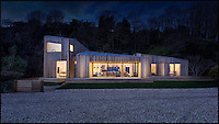 BNPS.co.uk (01202 558833) <br /> Pic: MartinGardner/BNPS<br /> <br /> A coastal holiday home that was broken in half by a landslip has been completely rebuilt with a clever design to prevent it falling victim to the natural disaster again.<br /> <br /> The Crow's Nest has a floating structural frame that will act as an adjustable raft if there is any movement in the future and places for mechanical jacks to be positioned so the house can be securely re-levelled.<br /> <br /> The ingenious concept was created by AR Design Studio, who worked closely with engineers to come up with a structure that couldn't be broken if the land shifts again.<br /> <br /> After months of appalling weather, huge cracks started appearing in the ground in Lyme Regis, Dorset, in February 2014 as the Jurassic coastline shifted.