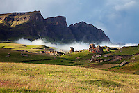 The majestic Drakensberg Mountains on the Lesotho - South Africa border.