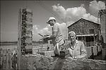 Cojimar, Cuba:<br /> Building walls, Cojimar