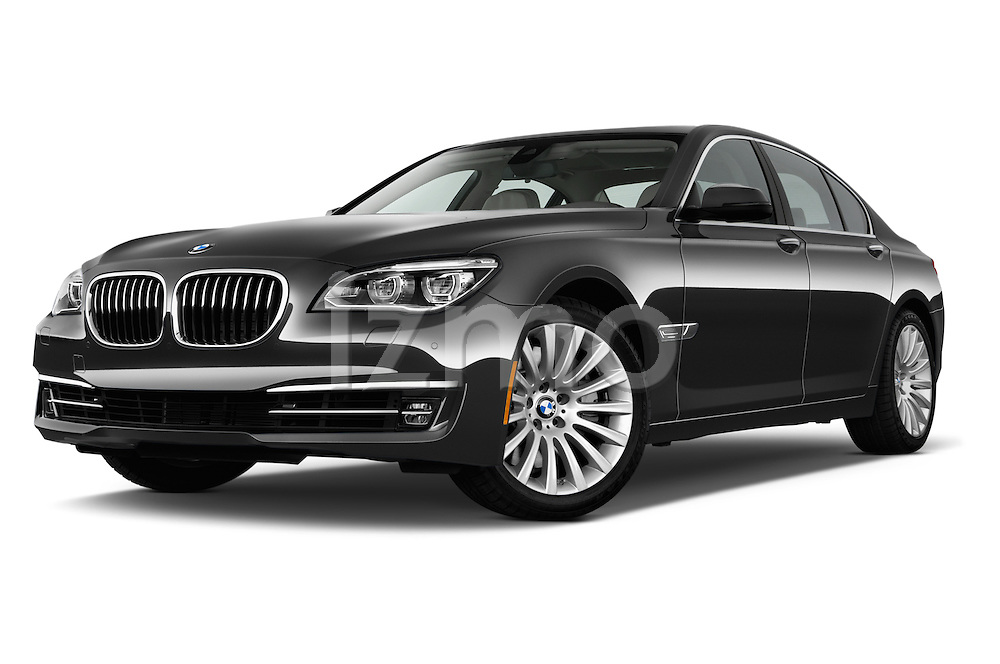 Low aggressive front three quarter view of a 2013 BMW 7 Series 750Li