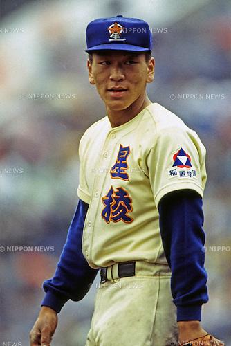 Hideki Matsui (Seiryo),<br /> APRIL 4, 1992 - Baseball :<br /> 64th National High School Baseball Invitational Tournament quarterfinal game Seiryo 1-5 Tenri at Koshien Stadium in Hyogo, Japan. (Photo by Katsuro Okazawa/AFLO)