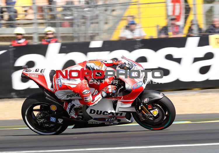 Monster Energy Grand Prix de France in Le Mans 14.-17.05.2015, Free Practice<br /> <br /> 4 Andrea Dovizioso / Italien<br /> <br /> Foto &copy; nordphoto / FSA