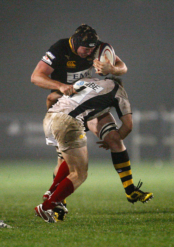 Photo: Richard Lane/Richard Lane Photography. London Wasps A v Saracens Stormers. Aviva A League. 04/10/2010. Wasps' Joe Burton attacks.