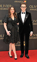 Giovanna Fletcher and Tom Fletcher at the Olivier Awards 2018, Royal Albert Hall, Kensington Gore, London, England, UK, on Sunday 08 April 2018.<br /> CAP/CAN<br /> &copy;CAN/Capital Pictures<br /> CAP/CAN<br /> &copy;CAN/Capital Pictures