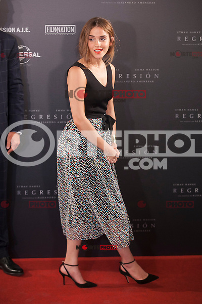 British actress Emma Watson during the `Regresion´ (Regression) film presentation in Madrid, Spain. August 27, 2015. (ALTERPHOTOS/Victor Blanco)