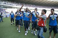 BELO HORIZONTE, MG, 13.04.2014 – CAMPEONATO MINEIRO 2014 – CRUZEIRO X ATLÉTICO-MG jogadores do Sada Cruzeiro, no estádio Minerão, na tarde deste domingo (13) (Foto: MARCOS FIALHO / BRAZIL PHOTO PRESS)