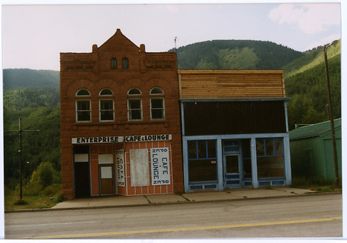 Front street-side view of the Enterprise Caf? in Rico.<br /> Rico, CO