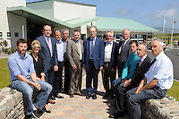Some of the design team of the the new &euro;3.5 million Irish language and enterprise development centre in Baile an Fheirt&eacute;araigh, Co Kerry which was opened by Minister of State for the Diaspora, Jimmy Deenihan T.D.  on Friday. Included are from left, Ciaran Slattery, Triona Costwlloe, Ger Lynch, Deirdre Costelloe, Ian O'Donnell, Breandan Breathnach, Gearoid O'Brosnachain, Bannisteoir, Mike Williams, Gerard Breathnach, Paul Lynch, John Balfray and Jack O'Leary.<br /> The new centre, which has an area of 1,400 square metres, will provide a range of Irish language based activities and courses, contains a number of enterprise units, and offers services and facilities for the local community.<br /> Photo: Don MacMonagle