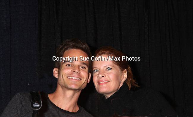 """Young & Restless Greg Rikaart and Michelle Stafford at Meet & Greet wine tasting event a part of the Soap Opera Festivals Weekend - """"All About The Drama"""" on March 24, 2012 at Bally's Atlantic City, Atlantic City, New Jersey.  (Photo by Sue Coflin/Max Photos)"""