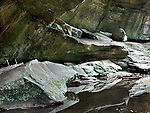 The Water Cut Rock Surfaces And Walls Along The Gorge In Old Man's Cave, Hocking Hills Region Of Central Ohio, USA : Low Res File - 8X10 To 11X14 Or Smaller, Larger If Viewed From A Distance
