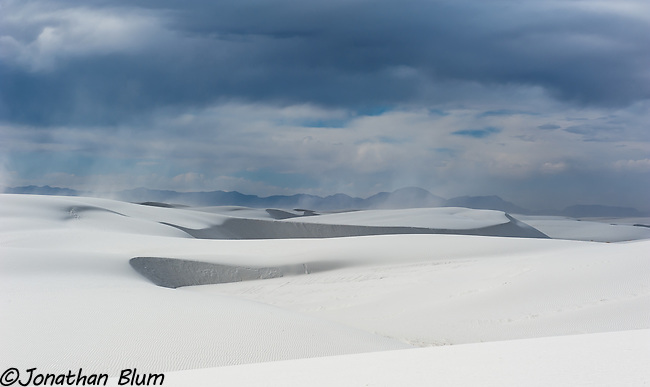 Blowing Sand, White Sands National Monument