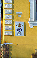 "The Tokaj winery and office of The Royal Tokaji Company RTWC in Mad with a sign. The RTWC in was one of the first Tokaj wineries to be ""revived"" by an injection of foreign capital. It makes wine in a traditional style. Credit Per Karlsson BKWine.com"