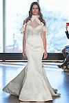 "Model Karen walks runway in a ""Donna"" bridal gown from the Rivini Spring Summer 2017 bridal collection by Rita Vinieris at The Standard Highline Room, during New York Bridal Fashion Week on April 15, 2016."