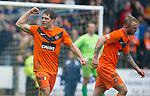 St Johnstone v Dundee Utd....21.04.12   SPL.John Rankin celebrates his goal.Picture by Graeme Hart..Copyright Perthshire Picture Agency.Tel: 01738 623350  Mobile: 07990 594431
