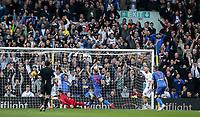 Leeds United fans celebrate their side's second goal<br /> <br /> Photographer Andrew Kearns/CameraSport<br /> <br /> The EFL Sky Bet Championship - Leeds United v Bolton Wanderers - Saturday 23rd February 2019 - Elland Road - Leeds<br /> <br /> World Copyright © 2019 CameraSport. All rights reserved. 43 Linden Ave. Countesthorpe. Leicester. England. LE8 5PG - Tel: +44 (0) 116 277 4147 - admin@camerasport.com - www.camerasport.com