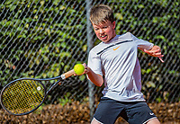 Hilversum, Netherlands, August 6, 2018, National Junior Championships, NJK, Jip Mens (NED)<br /> Photo: Tennisimages/Henk Koster