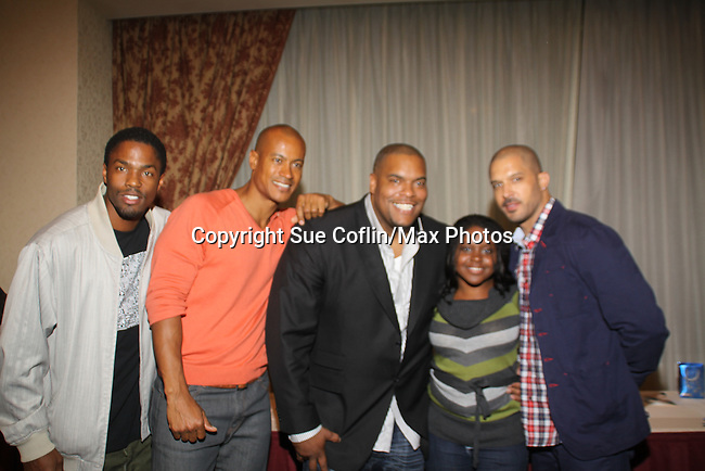 Tobias Truvillion, Max Tapper, Sean Ringgold, Shenell Edmonds, Terrell Tilford at The One Life To Live Lucheon at the Hemsley Hotel in New York City, New York on October 9, 2010. (Photo by Sue Coflin/Max Photos)