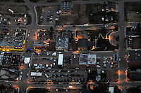 Night aerial of Cripple Creek, CO