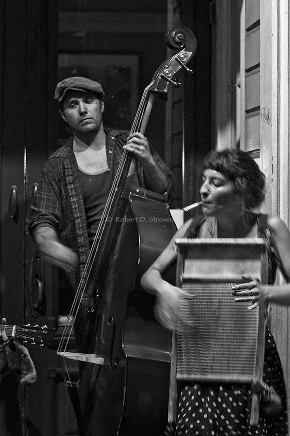 Street musicians, Frenchmen Street, French Quarter, New Orleans