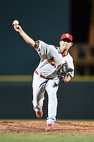 Palm Beach Cardinals pitcher Robert Stock (21) during a game against the Bradenton Marauders on April 8, 2014 at McKechnie Field in Bradenton, Florida.  Bradenton defeated Palm Beach 4-3.  (Mike Janes/Four Seam Images)