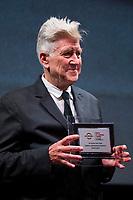 David Lynch receives a career prize  <br /> Roma 04/11/2017.  Auditorium parco della Musica. Festa del Cinema di Roma 2017.<br /> Rome November 4th 2017. Rome Film Fest 2017<br /> Foto Stefano Costantino Pool / Insidefoto