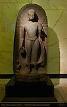 Buddha with Devotee, Sandstone, Kurkihar India 9th c., British Museum, London, England, UK
