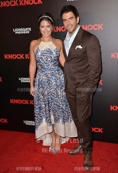Actress Lorenza Izzo &amp; director Eli Roth at the Los Angeles premiere of their movie &quot;Knock Knock&quot; at the TCL Chinese Theatre, Hollywood.<br /> October 7, 2015  Los Angeles, CA<br /> Picture: Paul Smith / Featureflash
