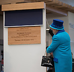 © Joel Goodman - 07973 332324 . No syndication permitted . FILE PICTURE DATED 14/11/2013 . Manchester , UK . The Queen officially opens the Co-operative's new corporate HQ at 1 Angel Square . The chairman of the Co-operative Group , Len Wardle , has resigned after a sex and drugs scandal involving the group's former banking chairman , Paul Flowers . Queen Elizabeth II and the Duke of Edinburgh visit the Coop building at 1 Angel Square , Manchester , this morning ( 14th November 2013 ) . Photo credit : Joel Goodman