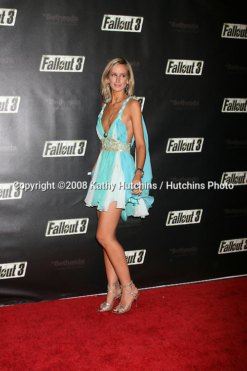 "Lady Victoria Hervey  arriving at the Launch of ""Fallout 3"" Videogame at the LA Center Studios  in Los Angeles, CA.October 16, 2008.©2008 Kathy Hutchins / Hutchins Photo...                ."