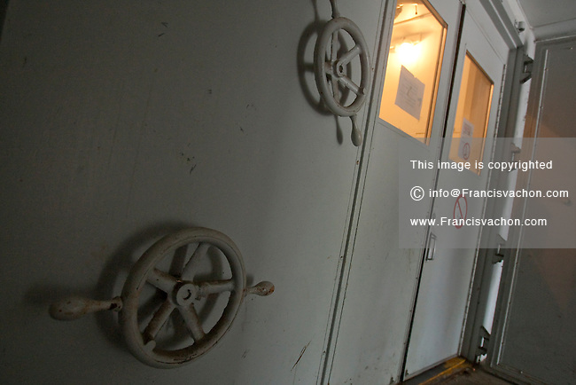 Armored doors are seen at the entrance of the nuclear fallout bunker at CFB Valcartier, just north of Quebec City, June 2, 2010.  Now used for the base day to day operation, the nuclear fallout bunker was part of the Emergency Government Headquarters scattered across the country.
