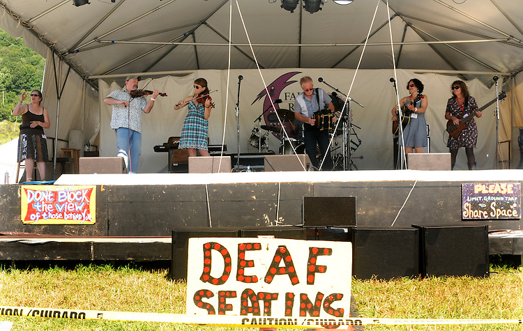 Jesse Lege & Bayou Brew performing on the Main Stage at the Falcon Ridge Folk Festival, held on Dodd's Farm in Hillsdale, NY on Saturday, August 1, 2015. Photo by Jim Peppler. Copyright Jim Peppler 2015.