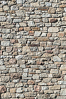 Fieldstone wall.