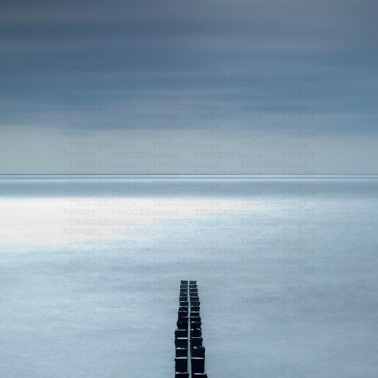 Sea defence breakers at Bridlington, East Yorkshire, England