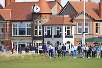 Stewart Hagestad (USA) on the 1st during Day 2 Singles at the Walker Cup, Royal Liverpool Golf CLub, Hoylake, Cheshire, England. 08/09/2019.<br /> Picture Thos Caffrey / Golffile.ie<br /> <br /> All photo usage must carry mandatory copyright credit (© Golffile | Thos Caffrey)