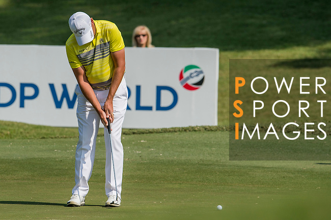 Sam Brazel of Australia putts during the 58th UBS Hong Kong Golf Open as part of the European Tour on 09 December 2016, at the Hong Kong Golf Club, Fanling, Hong Kong, China. Photo by Marcio Rodrigo Machado / Power Sport Images