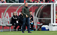 CARSON, CA - FEBRUARY 9: Kenneth Heiner-moller head coach of  Canada during a game between Canada and USWNT at Dignity Health Sports Park on February 9, 2020 in Carson, California.