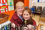 Aoibhín Ní Shuilleabhain  giving her grandmother  Bridget O'Sullivan (Abbeydorney) a big hug at the Gaelscoil Mhic Easmainn Grandparents day on Thursday.