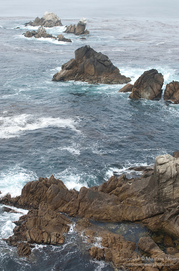 Point Lobos State Reserve, Carmel, California; view of Whalers Cove from the bluff on Cannery Point